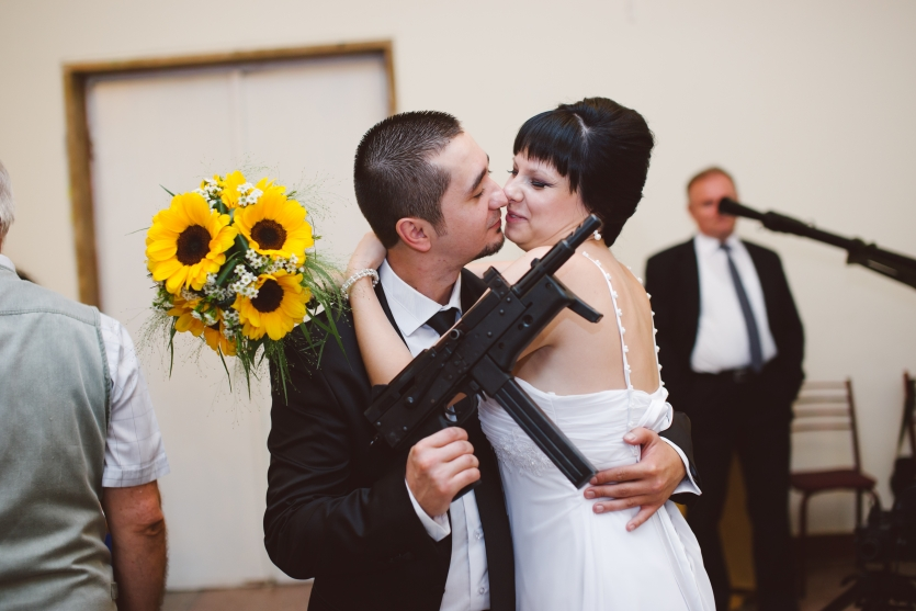 love, guns and flowers