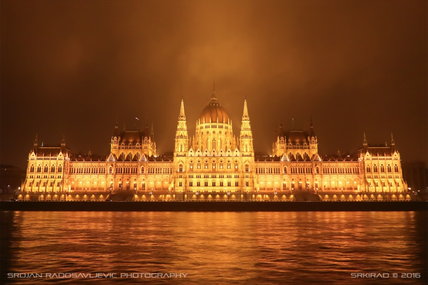 Hungarian parliament at night