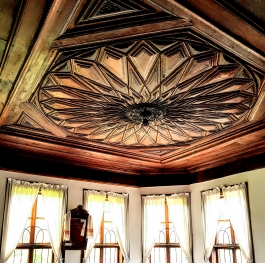 Wood-carved ceiling