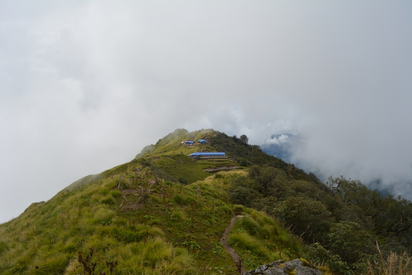 High Camp surrounded by clouds !