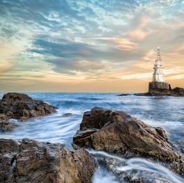 Lighthouse in Ahtopol, Bulgaria