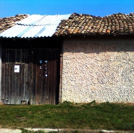 NATURAL OLD DESIGN HOUSE  WITH WOODEN GATE FROM THE BALKANS