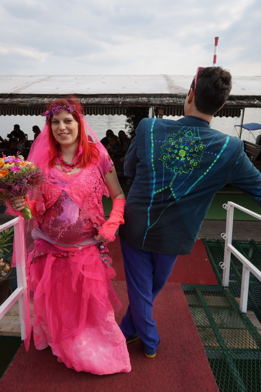 Colourful wedding it was