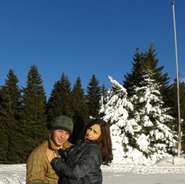 Love is on the snow