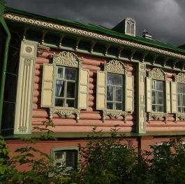 Old Russian Merchant wooden House