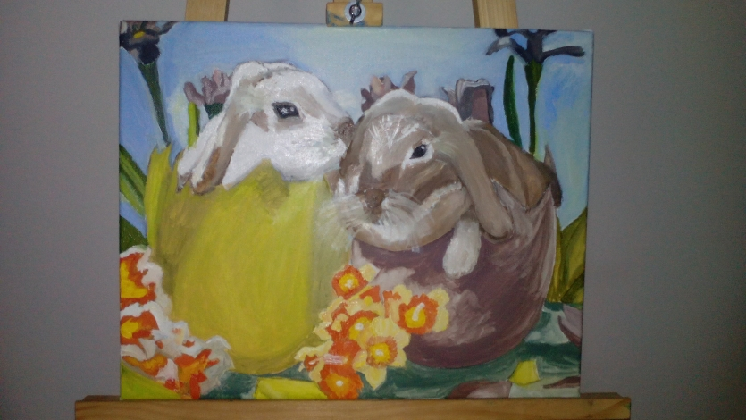 Easter Rabbits love each other