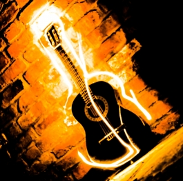 The guitar...