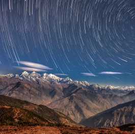 Starry night in Langtang
