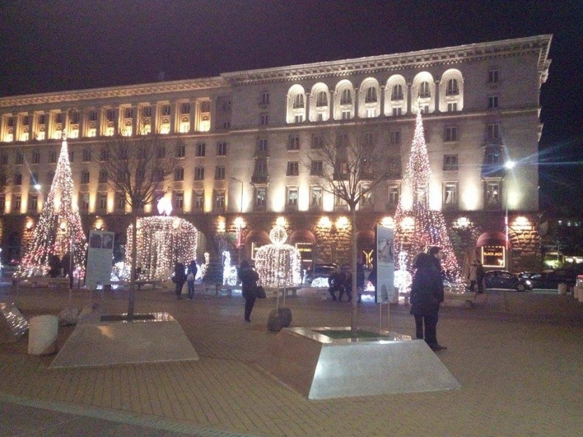 Christmas decoration in Bulgaria, Sofia city