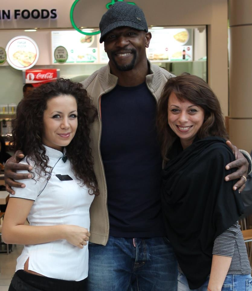 With Terry Crews