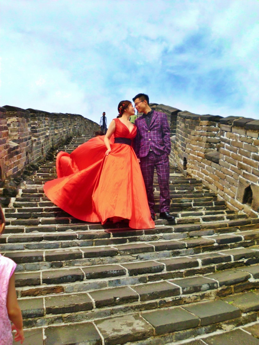 Chinese couple on  Great Wall
