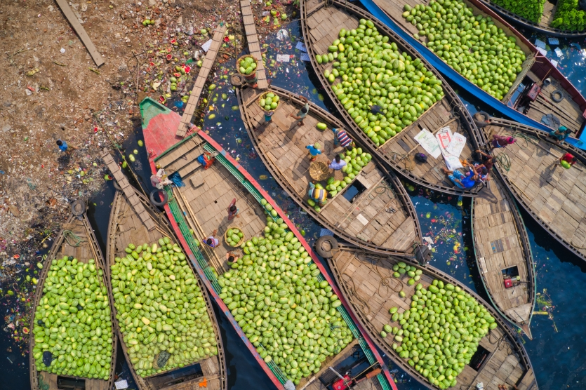 Boats of watermelon
