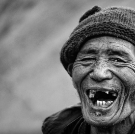 Cheerful tibetan