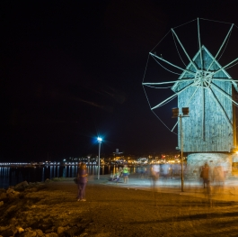 The wood windmill in Nessebar