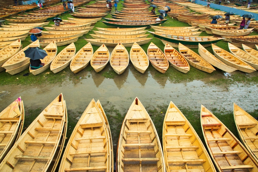 Traditional boat market