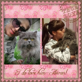 The cat woman and her handsome  king  Aivan. I do love him!