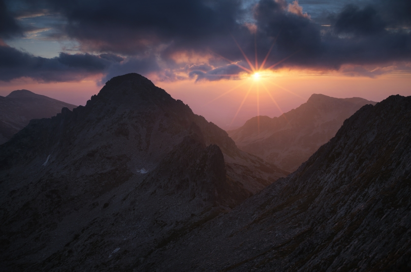 Sunrise in Pirin National Park, Bulgaria