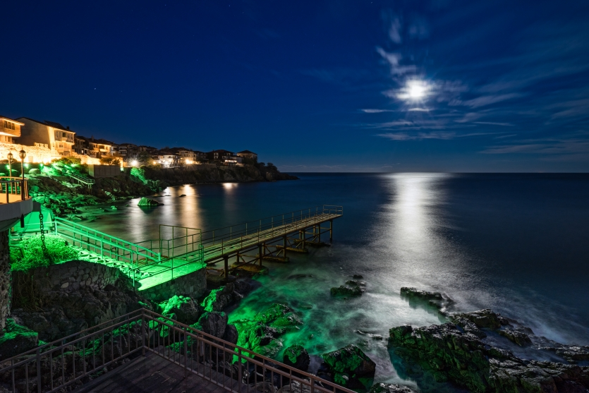 Pier at Sozopol Old Town, Bulgaria