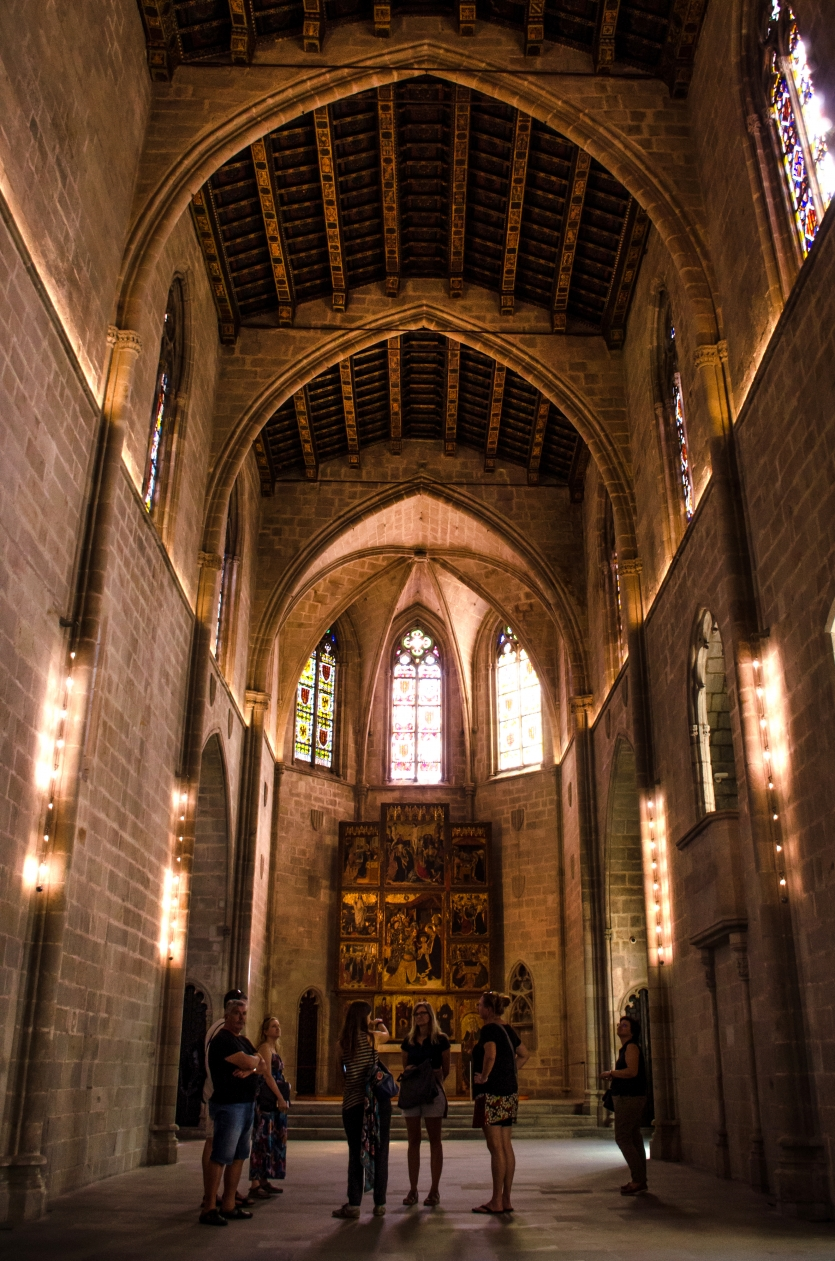 Altar of the Chapel of the Palau Reial Major in Barcelona