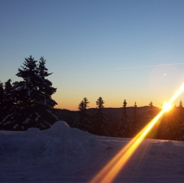 Sunset in the mountain.