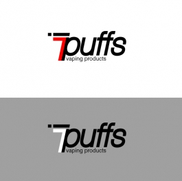 7puffs logo redesign with 'vaping products'