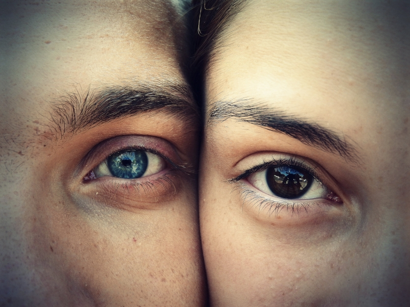 The eyes of a couple