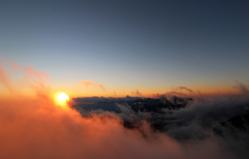 Above the clouds in Pirin Mountain