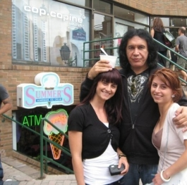 Me and my sister with Gene Simmons