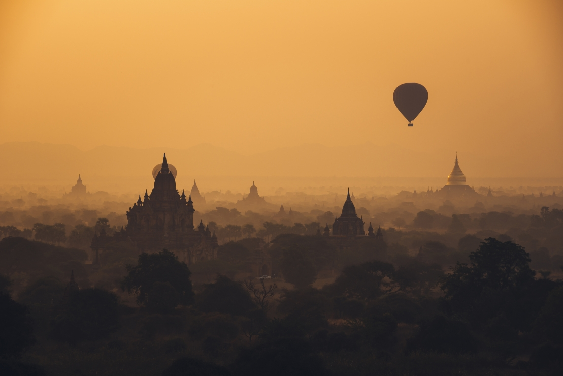 Hot Air-Balloon over Bagan