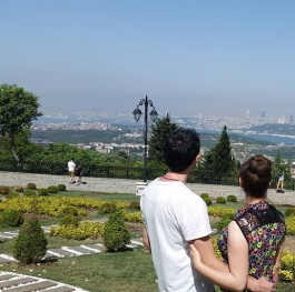 Istanbul romantic view from Camlica