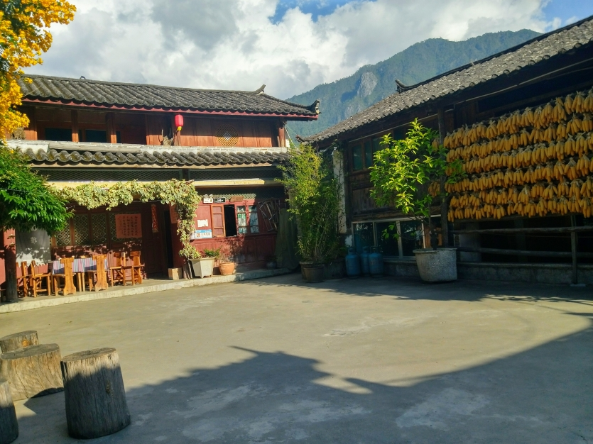 Old Wooden Buildings of Naxi People of China.