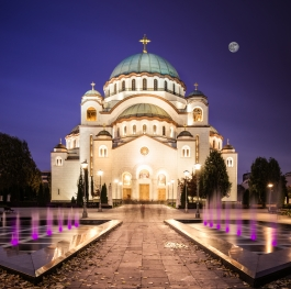 Temple of st. Sava at Night