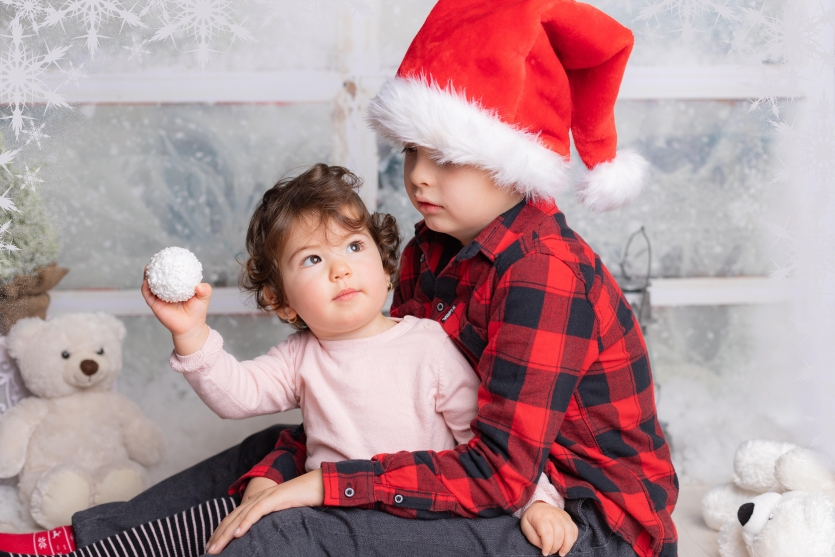 Christmas photo shoot/ brother and sister