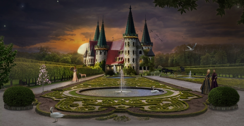 The end of the day in the fairy castle