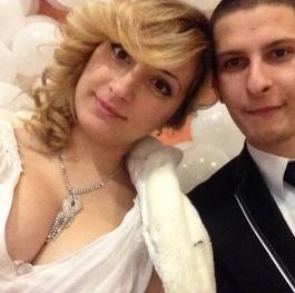 Our wedding selfie the best ever