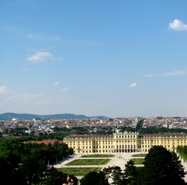 Schönbrunn palace and beautiful landscape