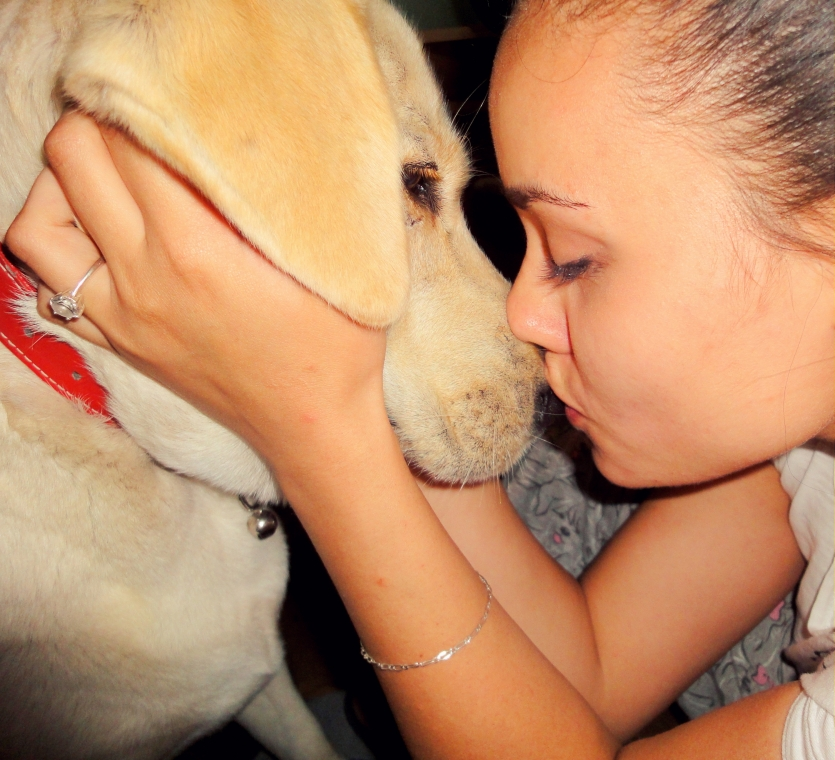 Sweet kiss with my baby