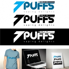 Logo design 7 puffs