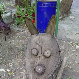 Rabbit from wood