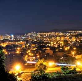 Night panorama of my hometown.