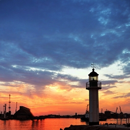The lighthouse port Burgas