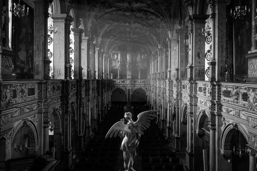 Angel Looking Down at the Chapel in the Frederiksborg Castle
