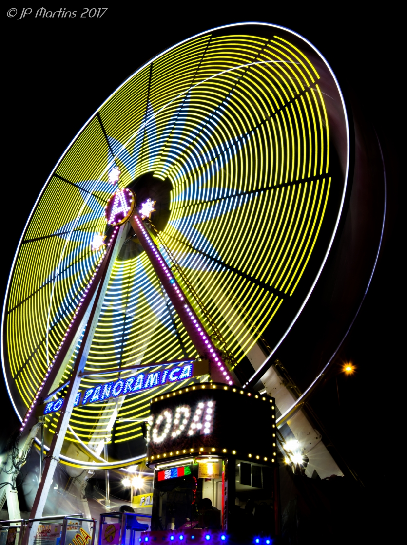 Long Exposure of Ferris wheel