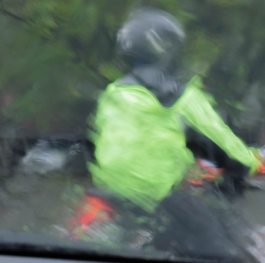 Blurred by the rain