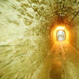 A tunel in an old solt mine