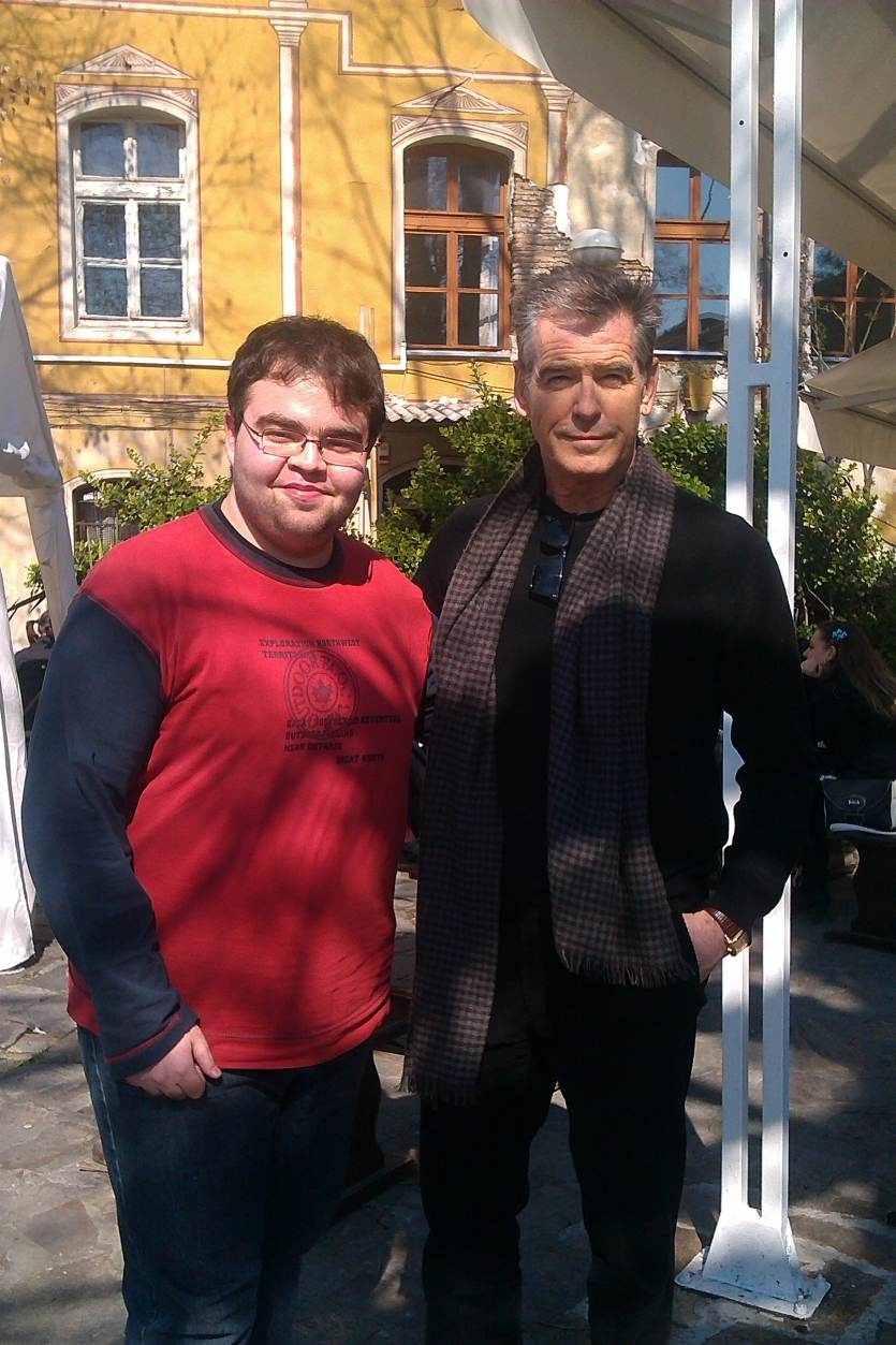 Momchil and Pierce Brosnan