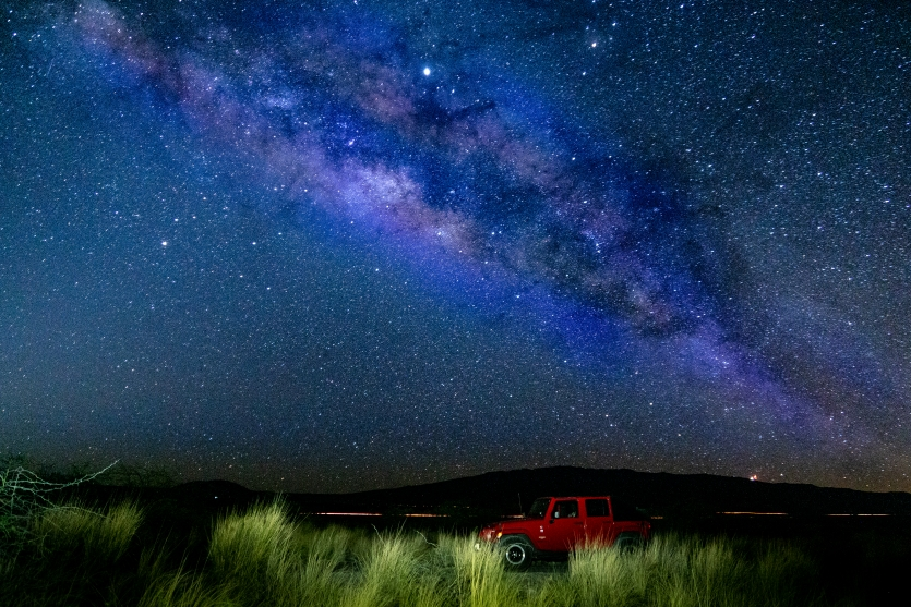 Milky Way over my Jeep