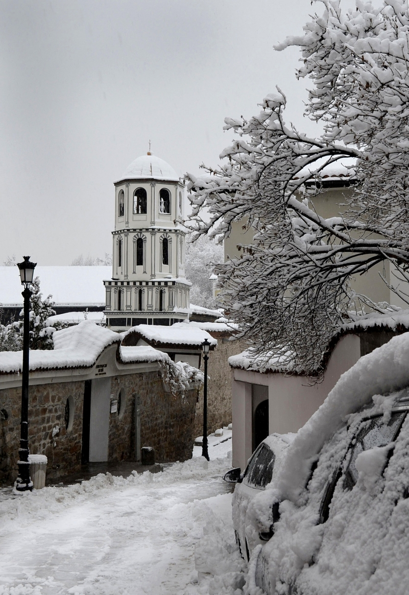 Winter in Plovdiv Old Town, Bulgaria