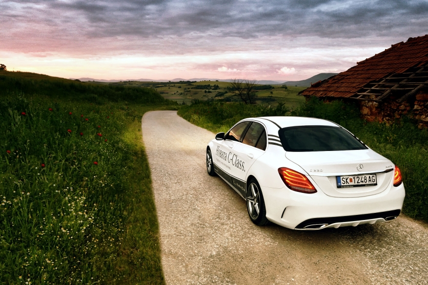 Mercedes C class countryside