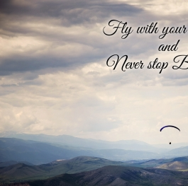 Fly with your dreams and never stop believing!